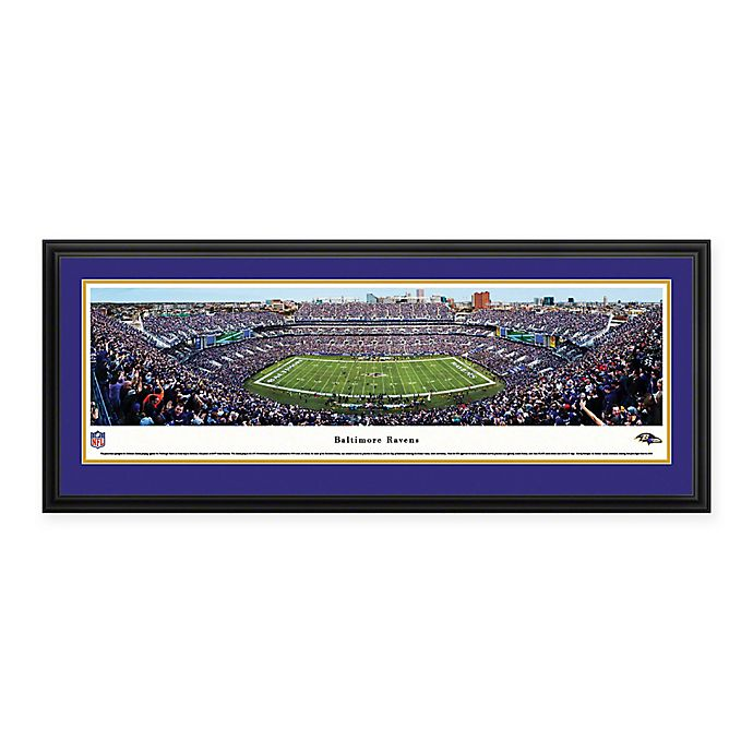 Alternate image 1 for NFL Baltimore Ravens M&T Bank Stadium Panoramic Print with Deluxe Frame