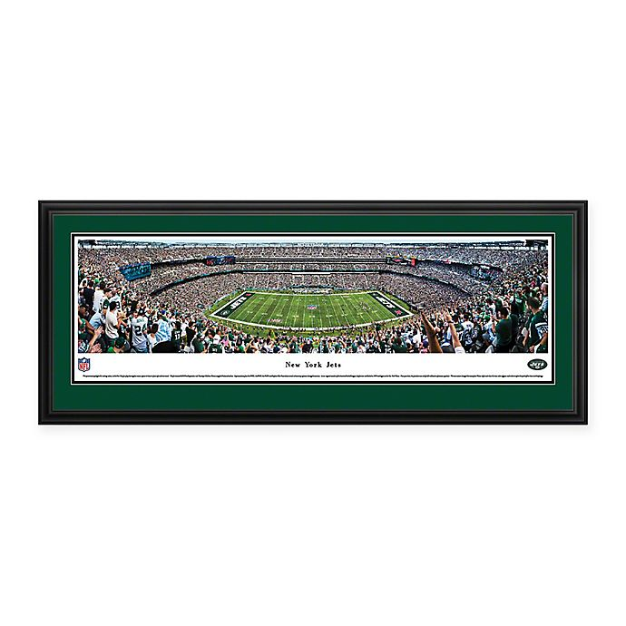 Alternate image 1 for NFL New York Jets MetLife Stadium Panoramic Print with Deluxe Frame