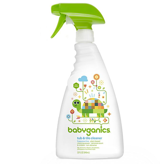 Alternate image 1 for Babyganics® 32 oz. Fragrance-Free Tub & Tile Cleaner