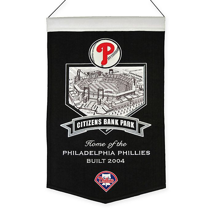 Alternate image 1 for MLB Philadelphia Phillies Citizens Bank Park Stadium Banner
