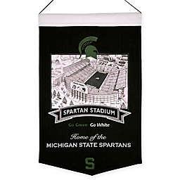 Michigan State University Spartans Spartan Stadium Banner