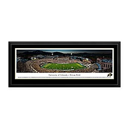 University of Colorado Buffaloes Folsom Field 50-Yard Line Panoramic Print with Deluxe Frame