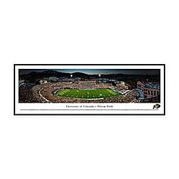 University of Colorado Buffaloes Folsom Field 50-Yard Line Panoramic Print with Standard Frame