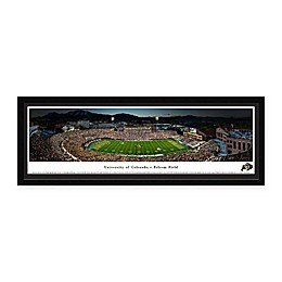 University of Colorado Buffaloes Folsom Field 50-Yard Line Panoramic Print with Select Frame