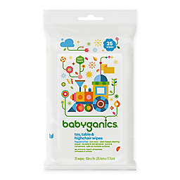 Babyganics® 25-Count Toy, Table and Highchair Wipes