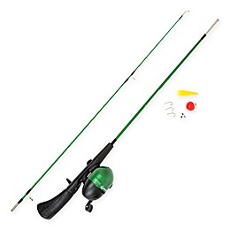 Wakeman Spawn Series Kid's Size Spincast Combo and Tackle Set in Metallic Green