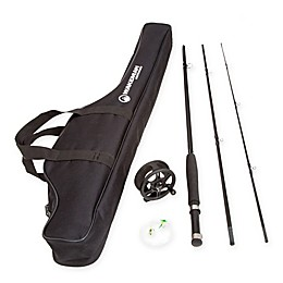 Wakeman Charter Series Fly Fishing Combo Rod with Carry Bag in Black