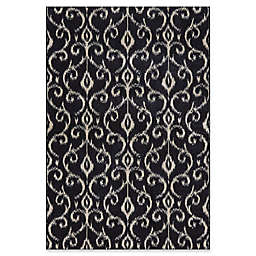 Feizy Settat Rug in Black/Ecru