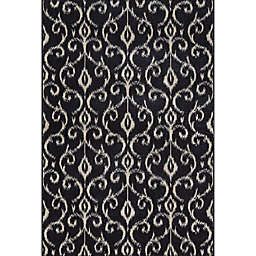 Feizy Settat 10-Foot x 13-Foot 2-Inch Area Rug in Black/Ecru