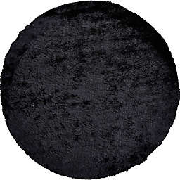 Isleta 8-Foot Round Area Rug in Black