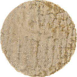 Isleta 8-Foot Round Area Rug in Cream