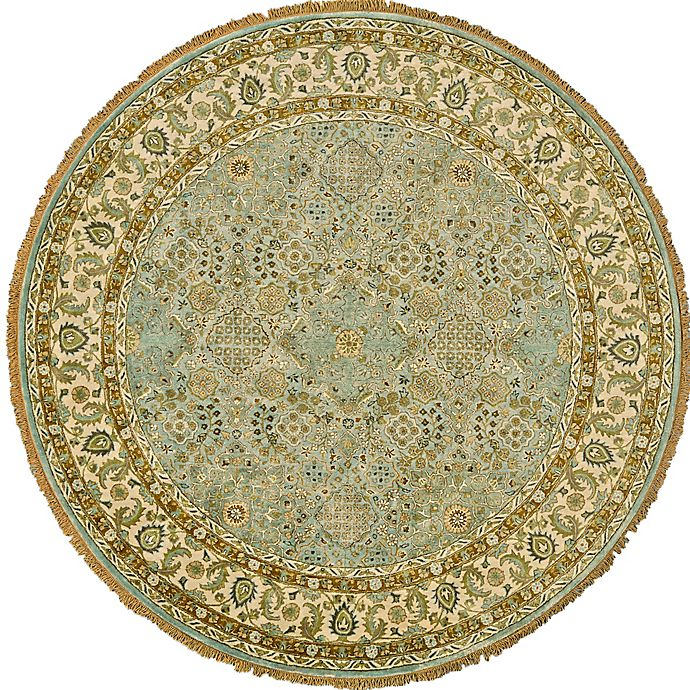 Alternate image 1 for Feizy Alegra 8-Foot x 8-Foot Round Area Rug in Green/Beige