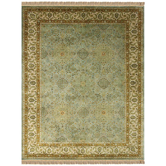 Alternate image 1 for Feizy Alegra 9-Foot 6-Inch x 13-Foot 6-Inch Area Rug in Green/Beige