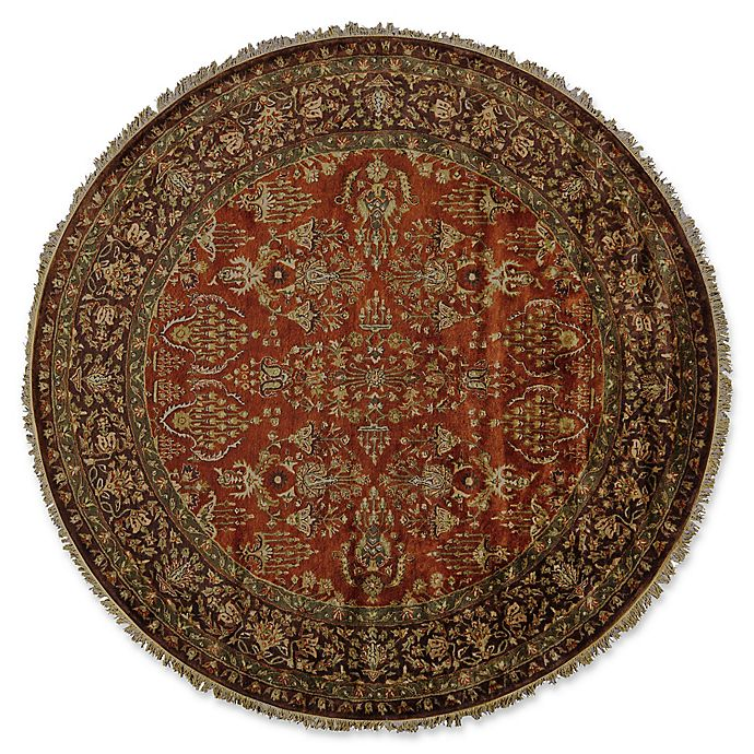 Alternate image 1 for Feizy Alegra 8-Foot x 8-Foot Round Area Rug in Cinnamon/Plum