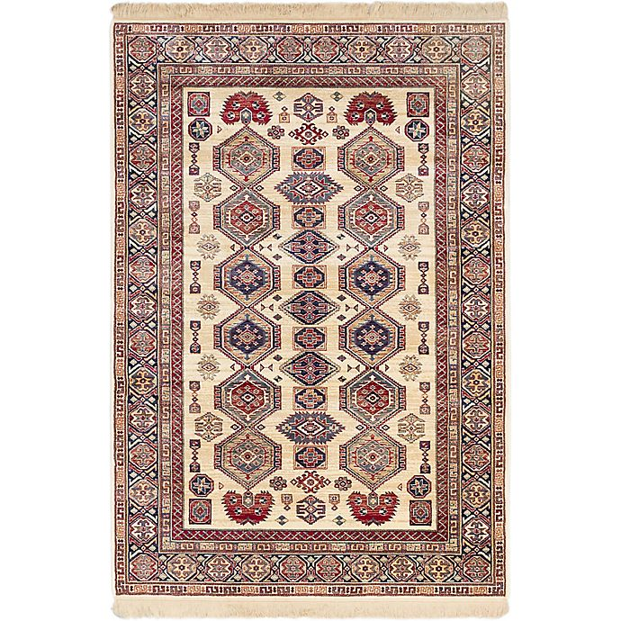 Alternate image 1 for Shiravan 3-Foot 11-Inch x 5-Foot 7-Inch Area Rug in Ivory/Red