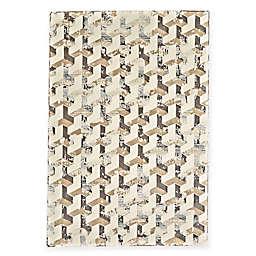 Feizy Settat Geometric Cube 7-Foot 10-Inch x 11-Foot Rug in Cream/Silver