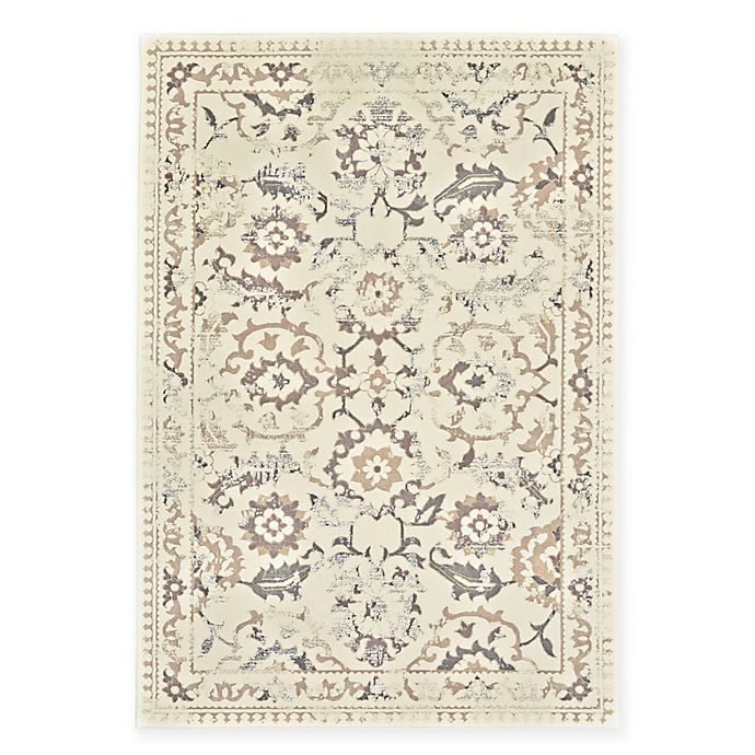 Alternate image 1 for Feizy Settat Damask 7-Foot 10-Inch x 11-Foot Rug in Cream/Grey