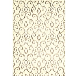 Feizy Settat Scroll 7-Foot 10-Inch x 11-Foot Rug in Cream/Grey