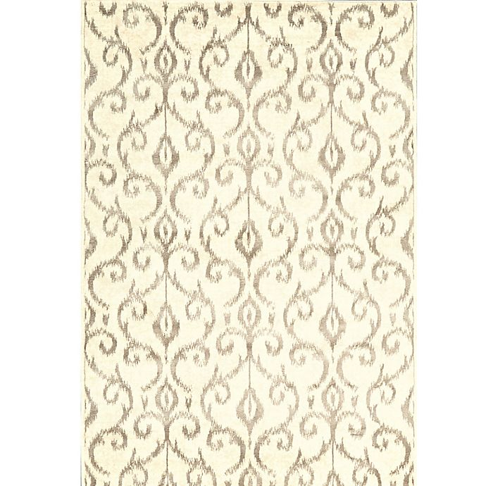 Alternate image 1 for Feizy Settat Scroll 7-Foot 10-Inch x 11-Foot Rug in Cream/Grey