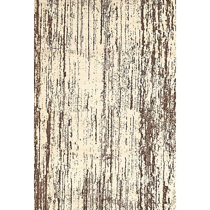 Alternate image 1 for Feizy Settat Distressed Lines 7-Foot 10-Inch x 11-Foot Rug in Cream/Brown
