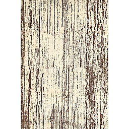 Feizy Settat Distressed Lines 7-Foot 10-Inch x 11-Foot Rug in Cream/Brown