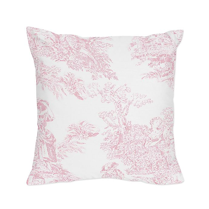 Sweet Jojo Designs French Toile Square Throw Pillow In Pink White Buybuy Baby