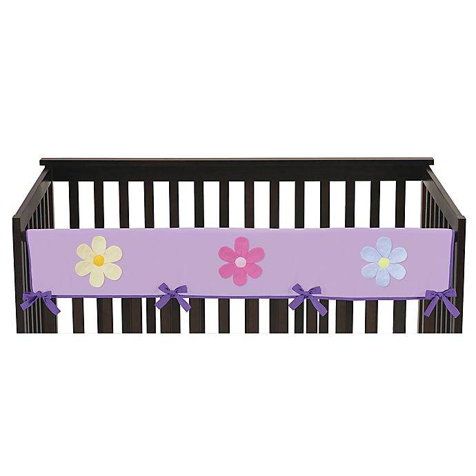 Alternate image 1 for Sweet Jojo Designs Danielle's Daisies Long Crib Rail Guard Cover