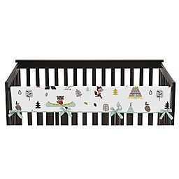 Sweet Jojo Designs® Outdoor Adventure Long Crib Rail Guard Cover in Aqua/White