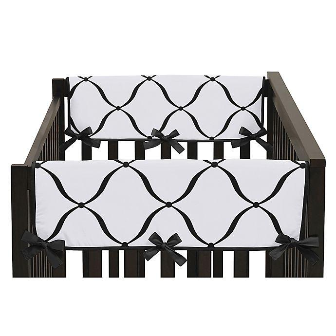 Alternate image 1 for Sweet Jojo Designs Princess Side Crib Rail Covers in Black/White(Set of 2)
