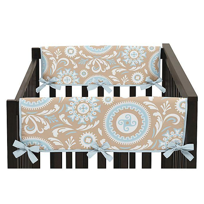 Alternate image 1 for Sweet Jojo Designs Hayden Side Crib Rail Guard Covers in Spa Blue/White