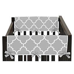 Sweet Jojo Designs® Trellis Side Crib Rail Covers in Grey/White (Set of 2)