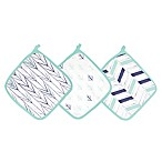 aden® by aden + anais® 3-Pack Washcloths in Indigo Trail