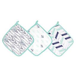 aden® by aden + anais® 3-Pack Washcloths in Indigo Trail