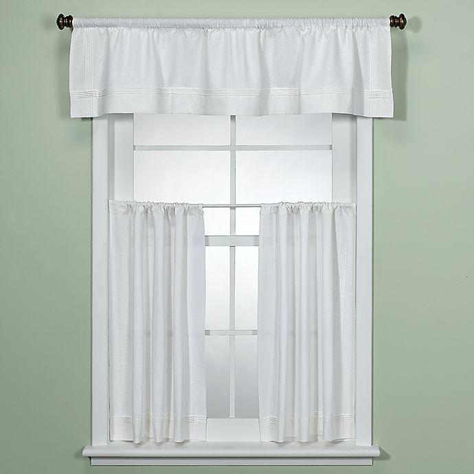 Maison White Kitchen Window Curtain Tiers