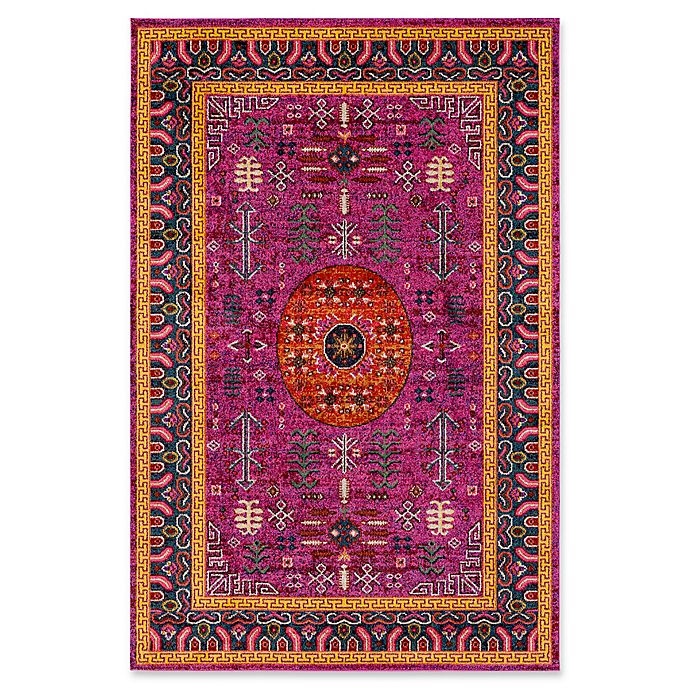 Alternate image 1 for Surya Anika Arrow 5-Foot 3-Inch x 7-Foot 3-Inch Area Rug in Bright Pink