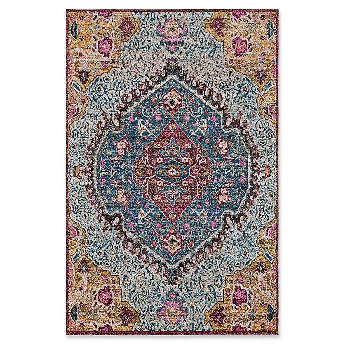 Alternate image 1 for Surya Anika Floral 2-Foot x 3-Foot Accent Rug in Aqua