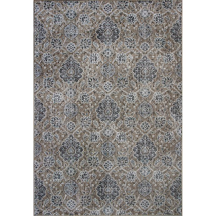 Alternate image 1 for KAS Allover Kashan Provence 2-Foot 2-Inch x 3-Foot 7-Inch Accent Rug in Sand