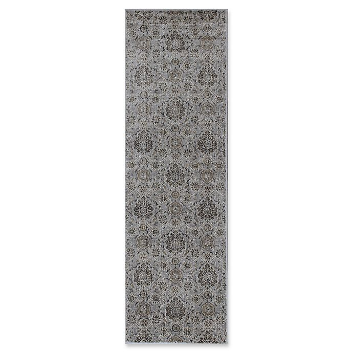 Alternate image 1 for KAS Allover Kashan Provence 2-Foot 2-Inch x 6-Foot 11-Inch Runner in Silver
