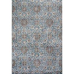 KAS Allover Kashan Provence 3-Foot 3-Inch x 4-Foot 7-Inch Accent Rug in Slate
