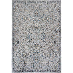 KAS Provence Mahal 3-Foot 3-Inch x 4-Foot 7-Inch Accent Rug in Silver/Blue