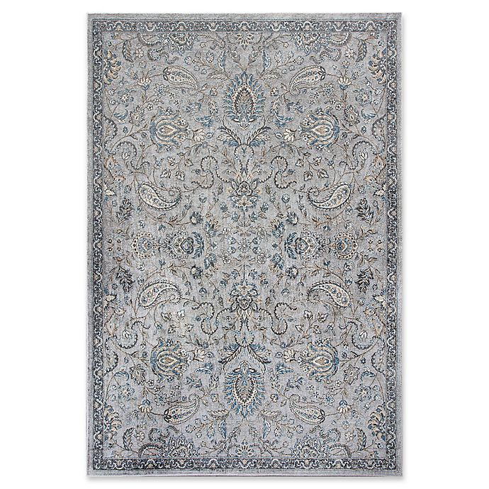 Alternate image 1 for KAS Provence Mahal 5-Foot 3-Inch x 7-Foot 7-Inch Area Rug in Silver/Blue