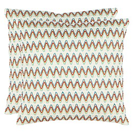 Safavieh Amelia 18-Inch Square Throw Pillows (Set of 2)