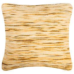 Safavieh Weave Square Throw Pillow In Mustard