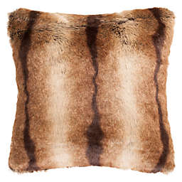 Safavieh Faux Luxe Brick Square Throw Pillow in Chocolate