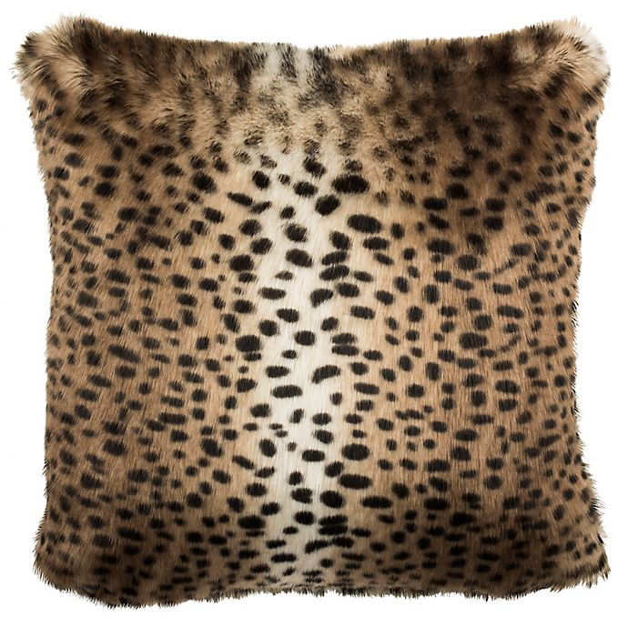 Safavieh Leopard Print Square Throw Pillow In Black Brown Bed Bath Beyond