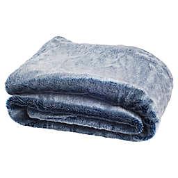 Safavieh Skyler Throw Blanket in Blue/White