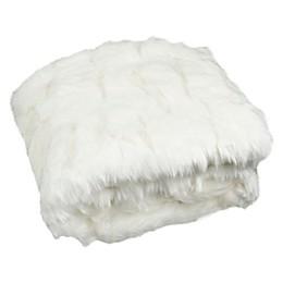 Safavieh Textured Throw Blanket in Snow White