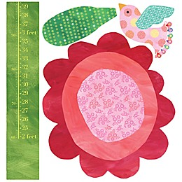 Wallies Big Flower Growth Chart Peel & Stick Wall Decals