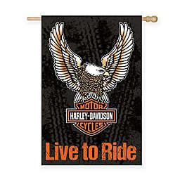 Harley Davidson Suede Garden Flag