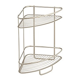 iDesign® Axis 2-Tier Standing Corner Storage Shelf